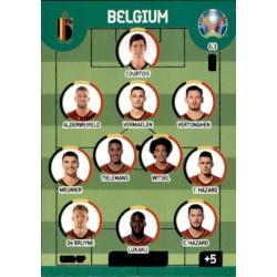 Line-Up Belgium 63 Adrenalyn XL Euro 2020
