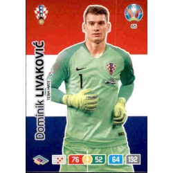 Dominik Livaković Croatia 65 Adrenalyn XL Euro 2020