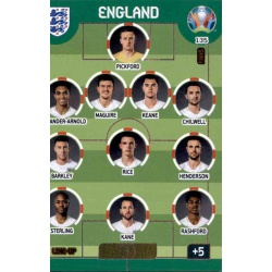 Line-Up England 135 Adrenalyn XL Euro 2020