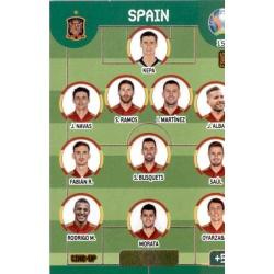 Line-Up Spain 153 Adrenalyn XL Euro 2020