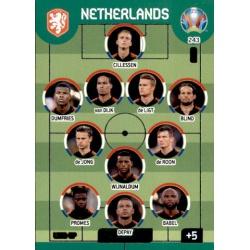 Line-Up Netherlands 243 Adrenalyn XL Euro 2020