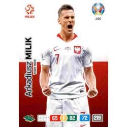 Arkadiusz Milik Poland 260 Adrenalyn XL Euro 2020