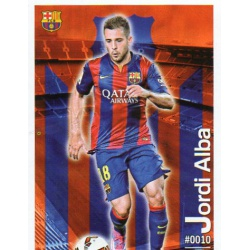 Jordi Alba Barcelona 10Las Fichas Quiz Liga 2016 Official Quiz Game Collection