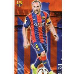 Andrés Iniesta Barcelona 16 Las Fichas Quiz Liga 2016 Official Quiz Game Collection