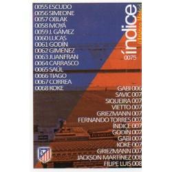 Índice Atlético Madrid 75 Las Fichas Quiz Liga 2016 Official Quiz Game Collection