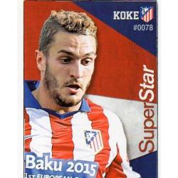 Koke Superstar Atlético Madrid 78 Las Fichas Quiz Liga 2016 Official Quiz Game Collection