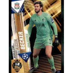 Alisson Becker Liverpool World Star W12 Match Attax 101 2019-20