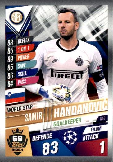 Match Attax 101 w69-SAMIR HANDANOVIC-WORLD STAR 2019//2020