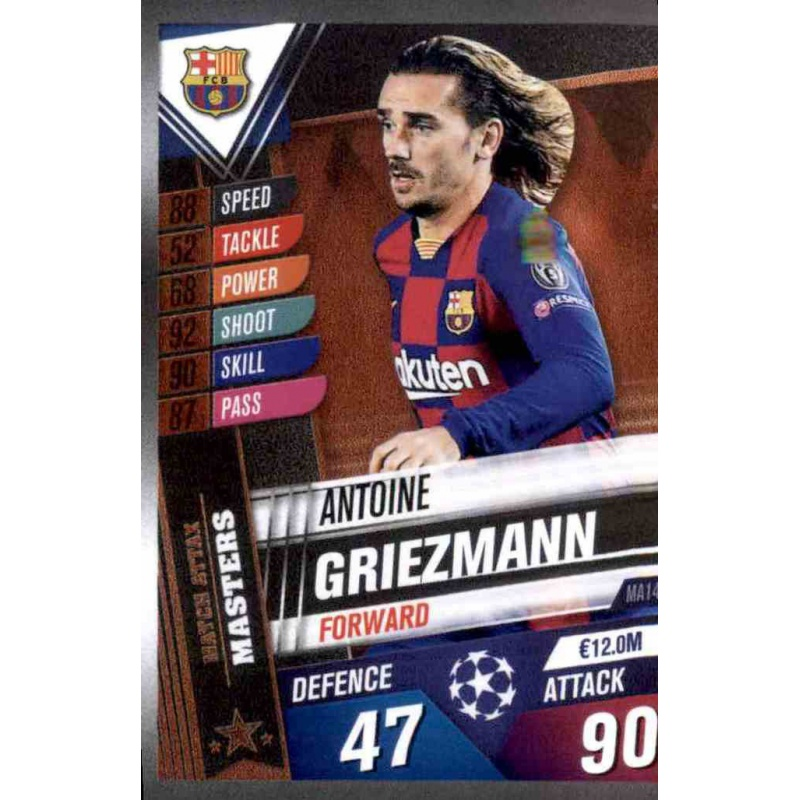 Topps Match Attax 101 Masters MA14 Antoine Griezmann