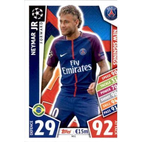 Neymar Jr Champions League 17//18 Paris Saint-Germain Sticker 266
