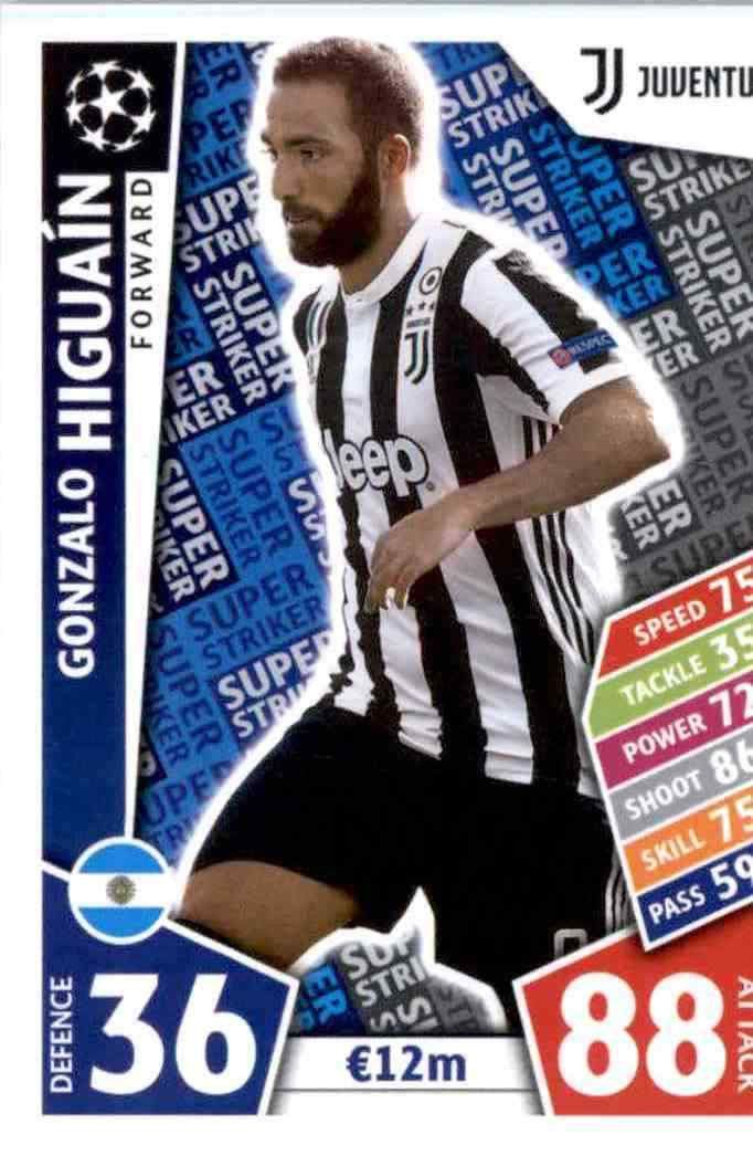 48f74aedc6122 Buy Online Cards from Gonzalo Higuaín Juventus Match Attax Champions 2017-18