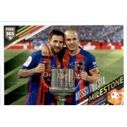 Messi Iniesta Milestone Barcelona 387
