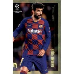 Gerard Pique Barcelona Talento Estrella Topps Champions League Lionel Messi