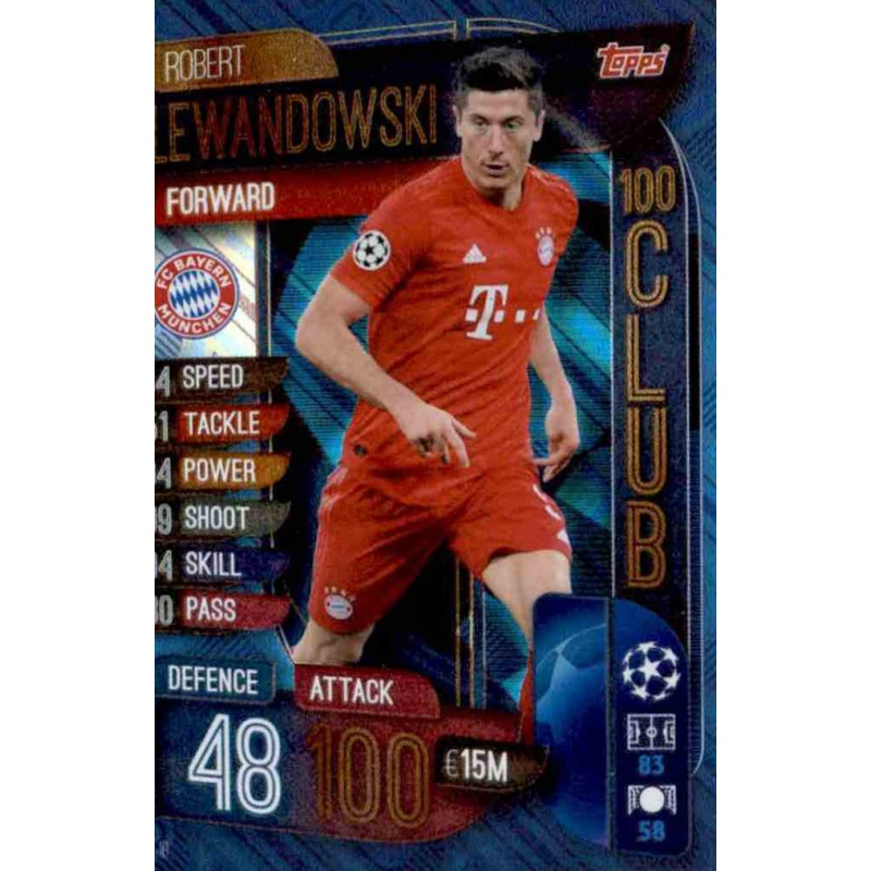 Champions League extra 19//20 2019 2020-clu10-Robert Lewandowski-club 100