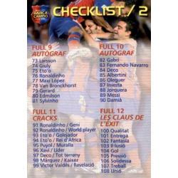 Checklist 2 Megacracks Barça Campió 2004-05