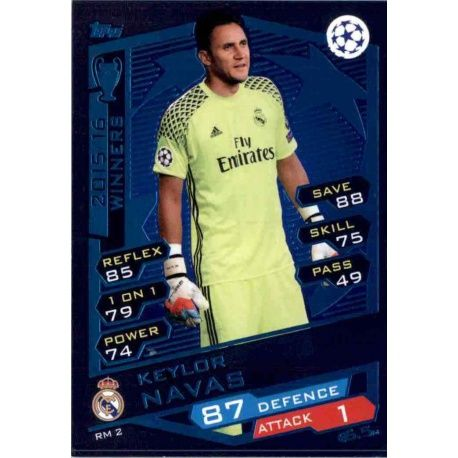 feb20ffc5a1 Sale Sticker from Keylor Navas Real Madrid Match Attax Champions 2016-17