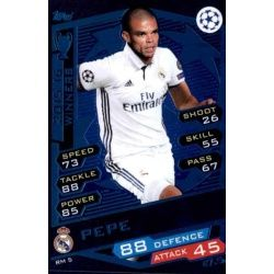 Pepe Real Madrid RM5 Match Attax Champions 2016-17