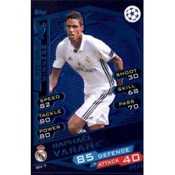 Raphaël Varane Real Madrid RM7 Match Attax Champions 2016-17