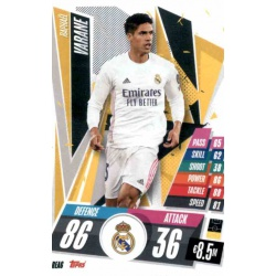 Raphael Varane Real Madrid REA6 Match Attax Champions International 2020-21