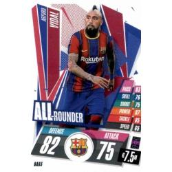 Arturo Vidal All Rounder Barcelona BAR3 Match Attax Champions International 2020-21