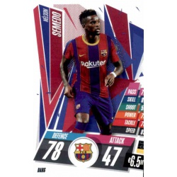 Nelson Semedo Barcelona BAR6 Match Attax Champions International 2020-21
