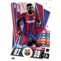 Samuel Umtiti Barcelona BAR8 Match Attax Champions International 2020-21