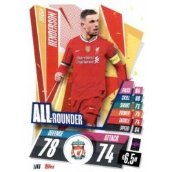 Jordan Henderson All Rounder Liverpool LIV3 Match Attax Champions International 2020-21