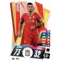 Dejan Lovren Liverpool LIV8 Match Attax Champions International 2020-21