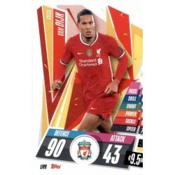 Virgil Van Dijk Liverpool LIV9 Match Attax Champions International 2020-21