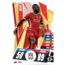 Sadio Mane Liverpool LIV17 Match Attax Champions International 2020-21