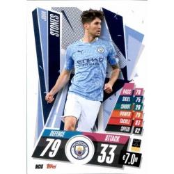 John Stones Manchester City MCI6 Match Attax Champions International 2020-21