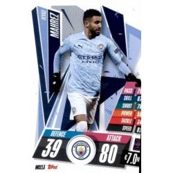 Riyad Mahrez Manchester City MCI13 Match Attax Champions International 2020-21