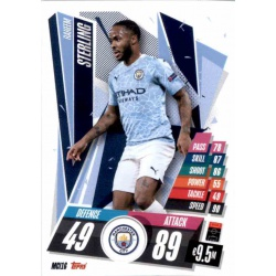 Raheem Sterling Manchester City MCI16 Match Attax Champions International 2020-21