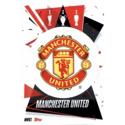 Escudo Manchester United MNU1 Match Attax Champions International 2020-21