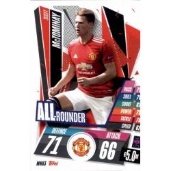 Scott McTominay All Rounder Manchester United MNU3 Match Attax Champions International 2020-21