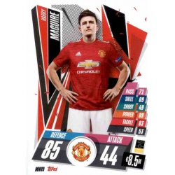 Harry Maguire Manchester United MNU9 Match Attax Champions International 2020-21