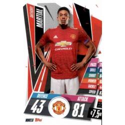 Anthony Martial Manchester United MNU18 Match Attax Champions International 2020-21
