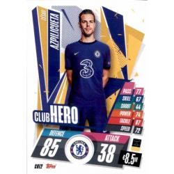 Cesar Azpilicueta Club Hero Chelsea CHE2 Match Attax Champions International 2020-21