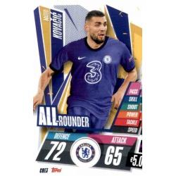 Mateo Kovacic All Rounder Chelsea CHE3 Match Attax Champions International 2020-21