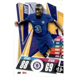 N'Golo Kante Chelsea CHE8 Match Attax Champions International 2020-21