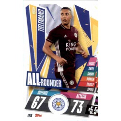 Youri Tielemans All Rounder Leicester City LEI3 Match Attax Champions International 2020-21