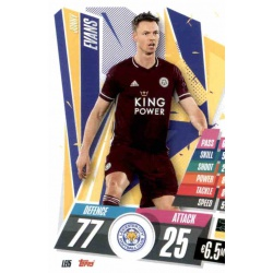 Jonny Evans Leicester City LEI5 Match Attax Champions International 2020-21