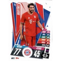 Javi Martinez Bayern Munchen BAY11 Match Attax Champions International 2020-21