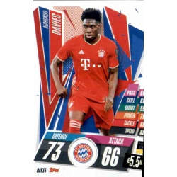 Alphonso Davies Bayern Munchen BAY14 Match Attax Champions International 2020-21