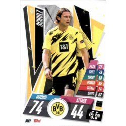 Nico Schulz Borussia Dortmund DOR7 Match Attax Champions International 2020-21