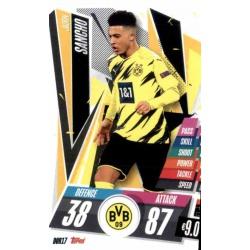 Jadon Sancho Borussia Dortmund DOR17 Match Attax Champions International 2020-21