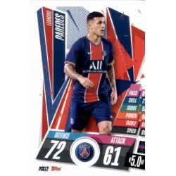Leandro Paredes PSG PSG12 Match Attax Champions International 2020-21