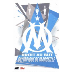 Escudo Olympique Marsella MAR1 Match Attax Champions International 2020-21