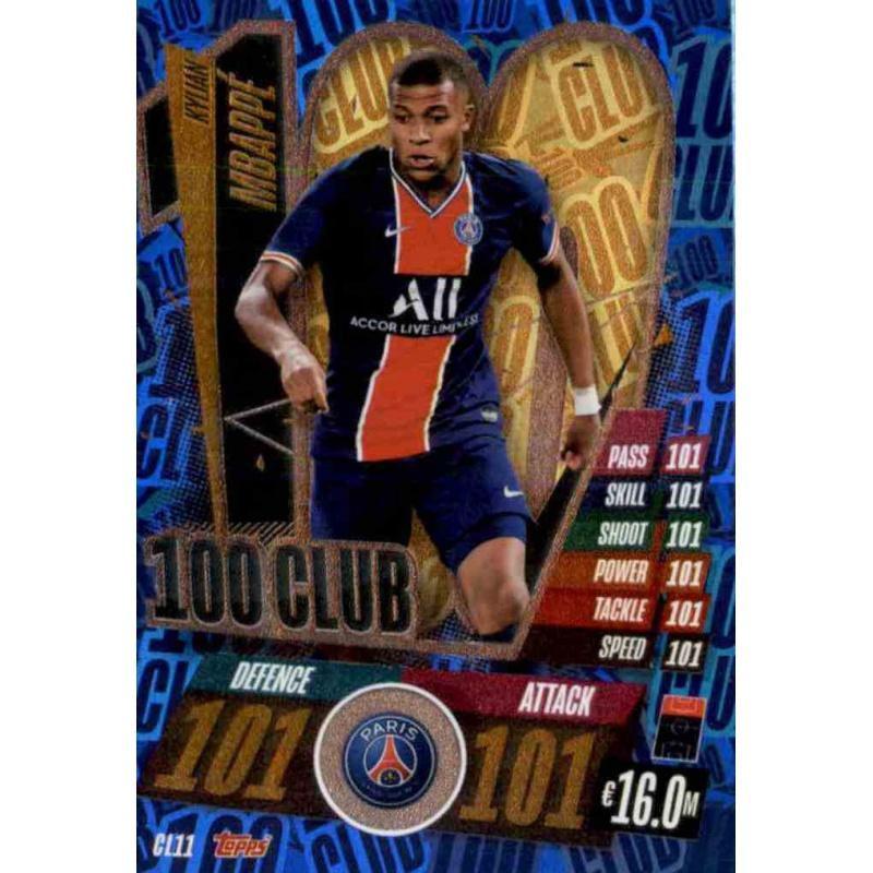 Ligue des Champions 20//21 2020 2021 cl11-Kylian Mbappe-CLUB 100
