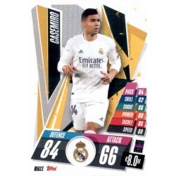Casemiro Real Madrid REA11 Match Attax Champions International 2020-21
